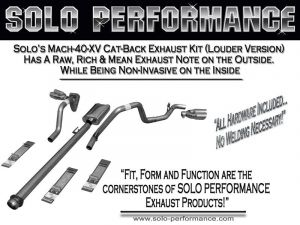 """F-150 2015-Present Mach-40-XV Dual CAT Back Exhaust System Ford F150 V8 157"""" Weelbase"""